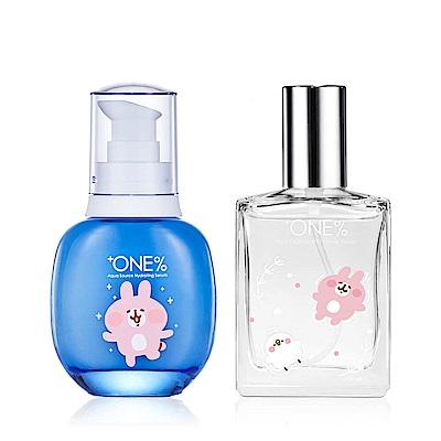 +ONE%歐恩伊 粉紅兔兔保濕精華50ml+玫瑰保濕噴霧50ml