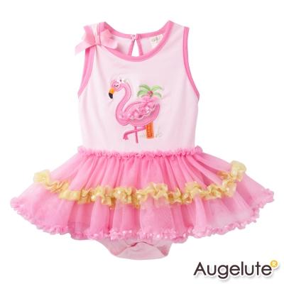 baby童衣包屁裙粉天鵝女寶寶連身衣42175