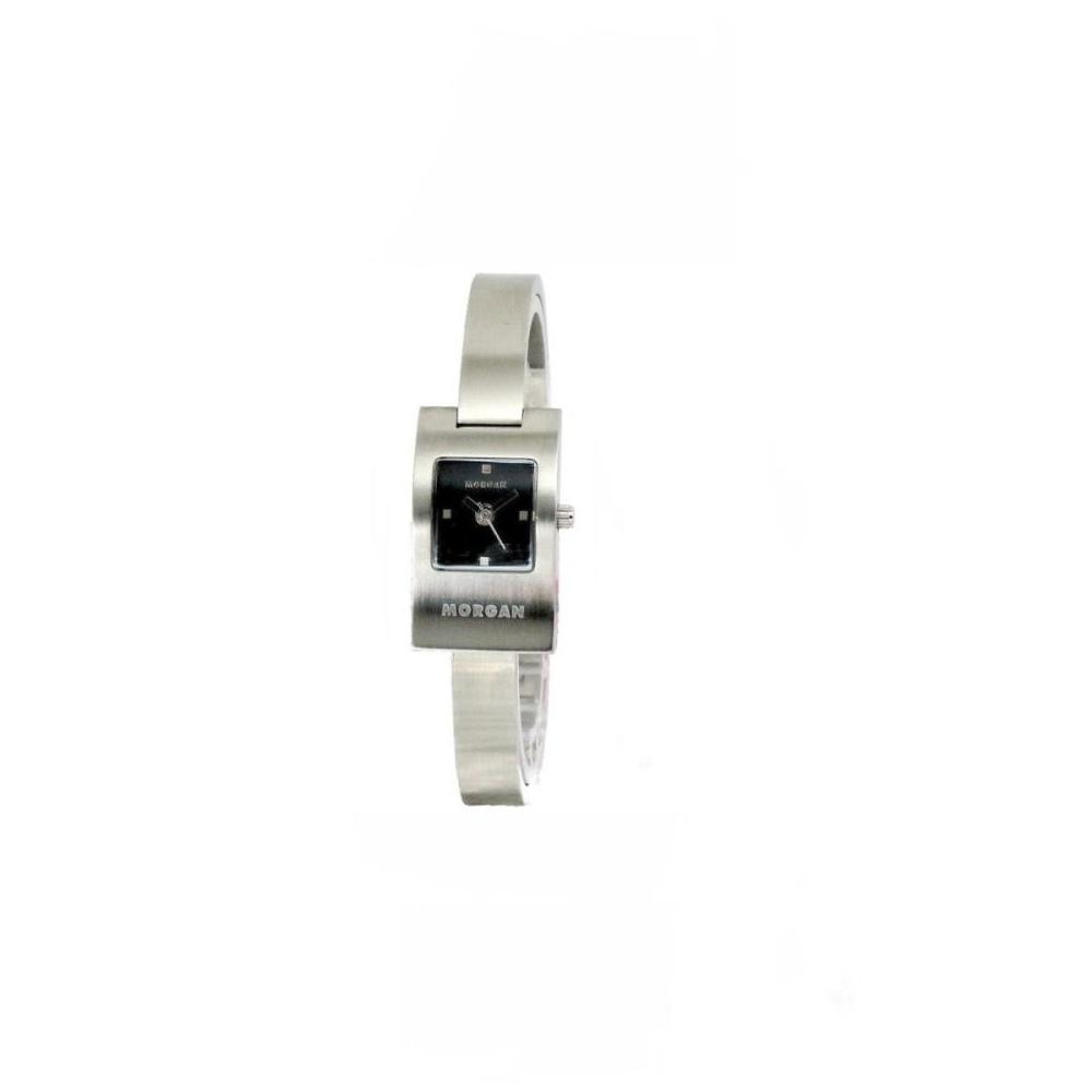 MORGAN 城市簡約曲線個性腕錶-黑/17mm