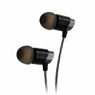 T.C.STAR 鋁合金立體聲入耳式帶麥耳機/黑色 (TCE6100BK)