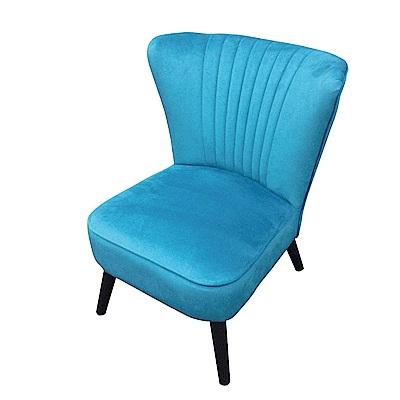 品家居 希拉凡藍絲絨布餐椅-51x53x78cm免組