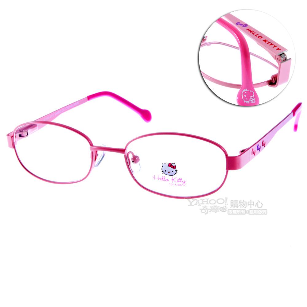 Hello Kitty兒童眼鏡 甜美蝴蝶結系列/亮眼粉紅#HEMM047 C11