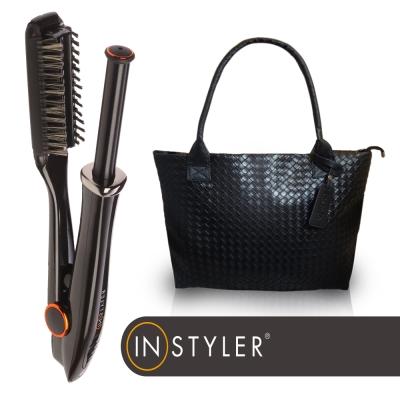 Instyler第六代神器19mm負離子兩用速效電動捲髮器+壓紋編織包