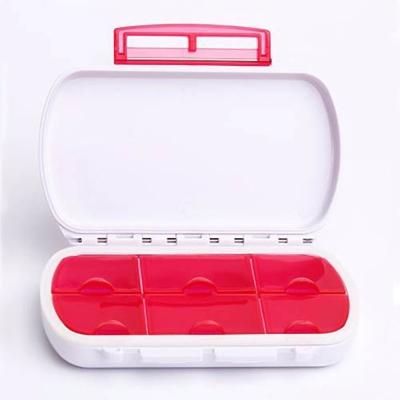 攜帶型防潮防水6格密封圈藥盒/收納盒(顏色隨機出貨)