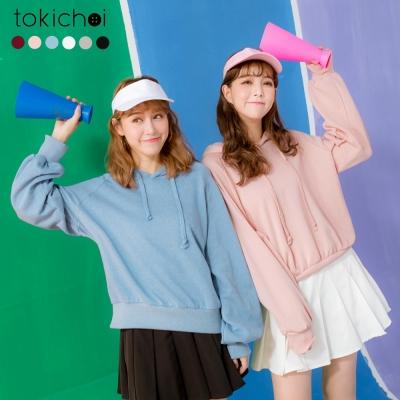東京著衣 多色加長拋袖帽T(共六色)
