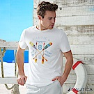 Nautica 陽光型男划槳圖案短袖T恤 -白
