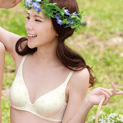 嬪婷-環保海藻纖維D-E罩杯內衣-嫩芽黃