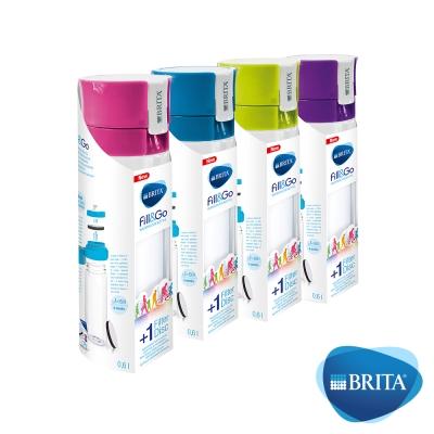 [1壺4芯$799]德國BRITA Fill&Go隨身濾水瓶600ml(1入濾芯片+贈品3入)