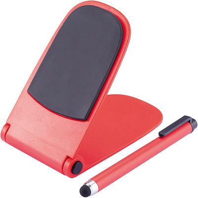 XDDESIGN 自動彈升觸控筆手機座(紅)