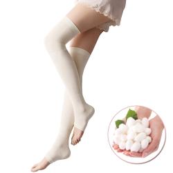 美腿襪 蠶絲超柔軟著壓機能美腿襪 日本SUNFAMILY