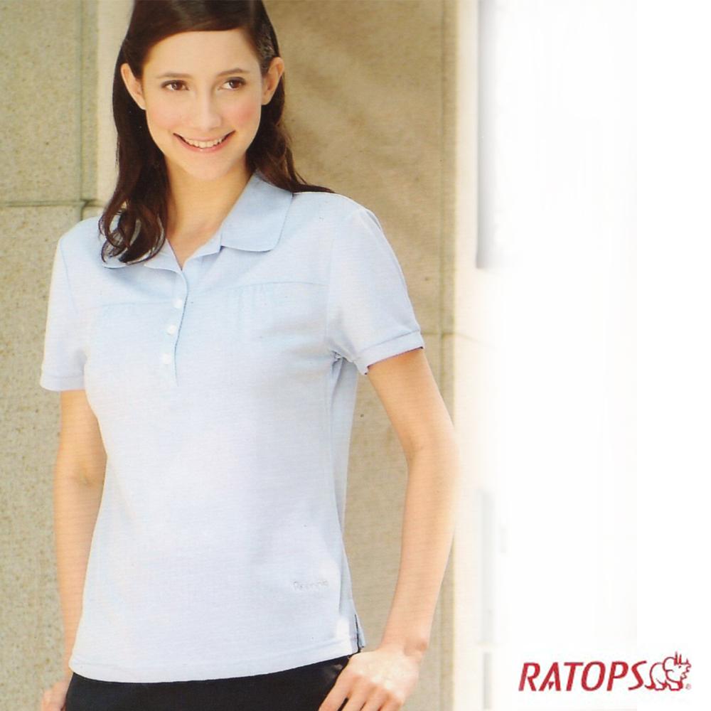 【瑞多仕】女款 OUTLAST 前剪接POLO衫_DB7838 淡雲藍色 V1
