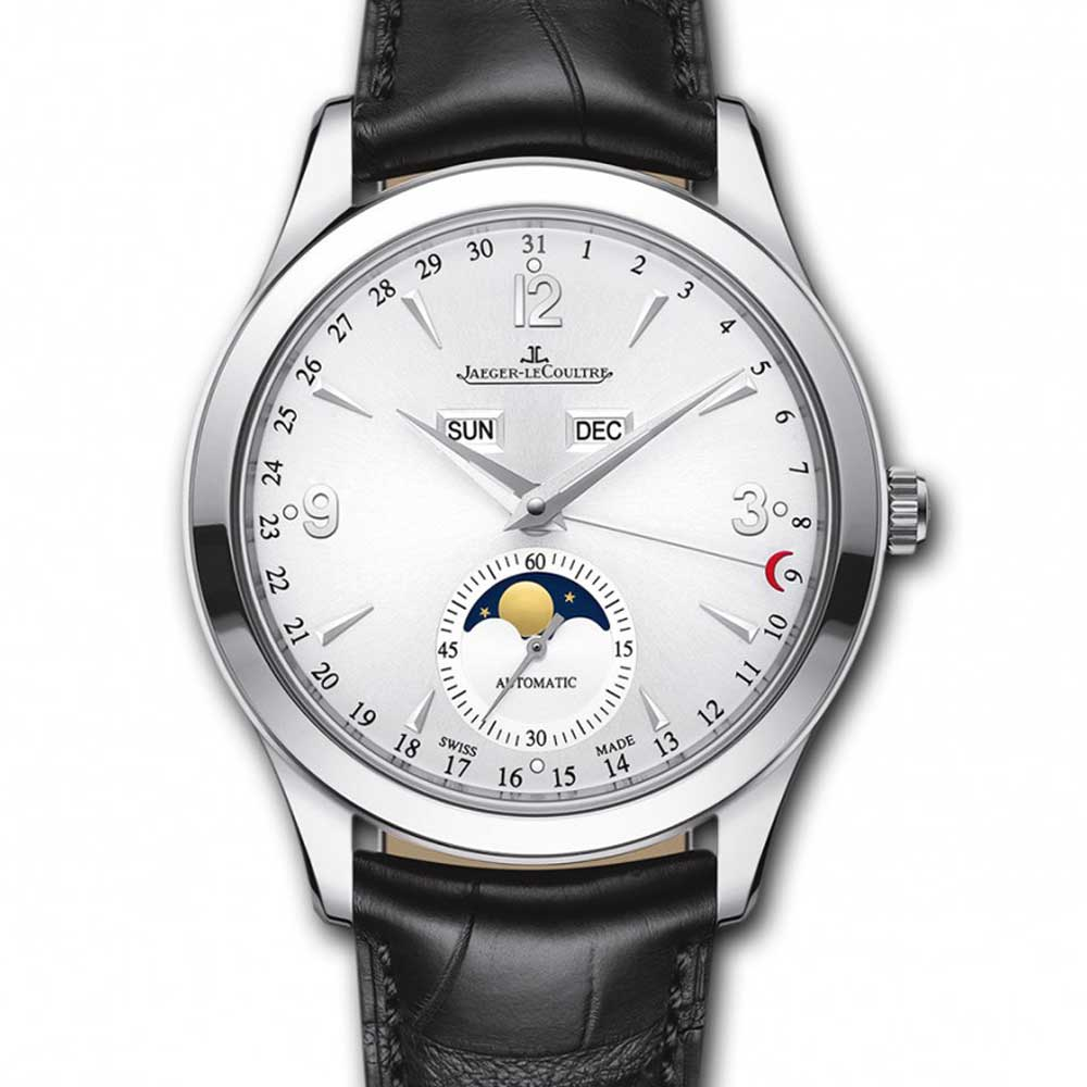 積家Jaeger-LeCoultre大師系列 銀面月相小年曆腕錶-39mm