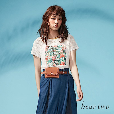 beartwo 透膚花漾蕾絲浪漫造型上衣(二色)