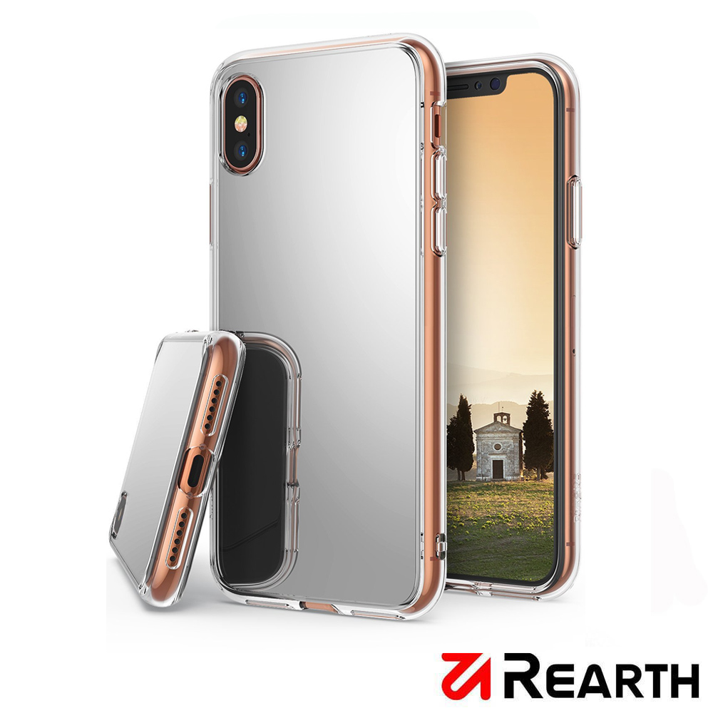 Rearth Apple iPhone X 鏡面保護殼