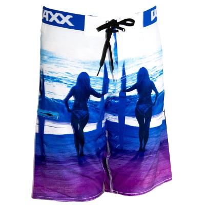 WAXX 紫色海灘高質感吸濕排汗運動衝浪海灘褲