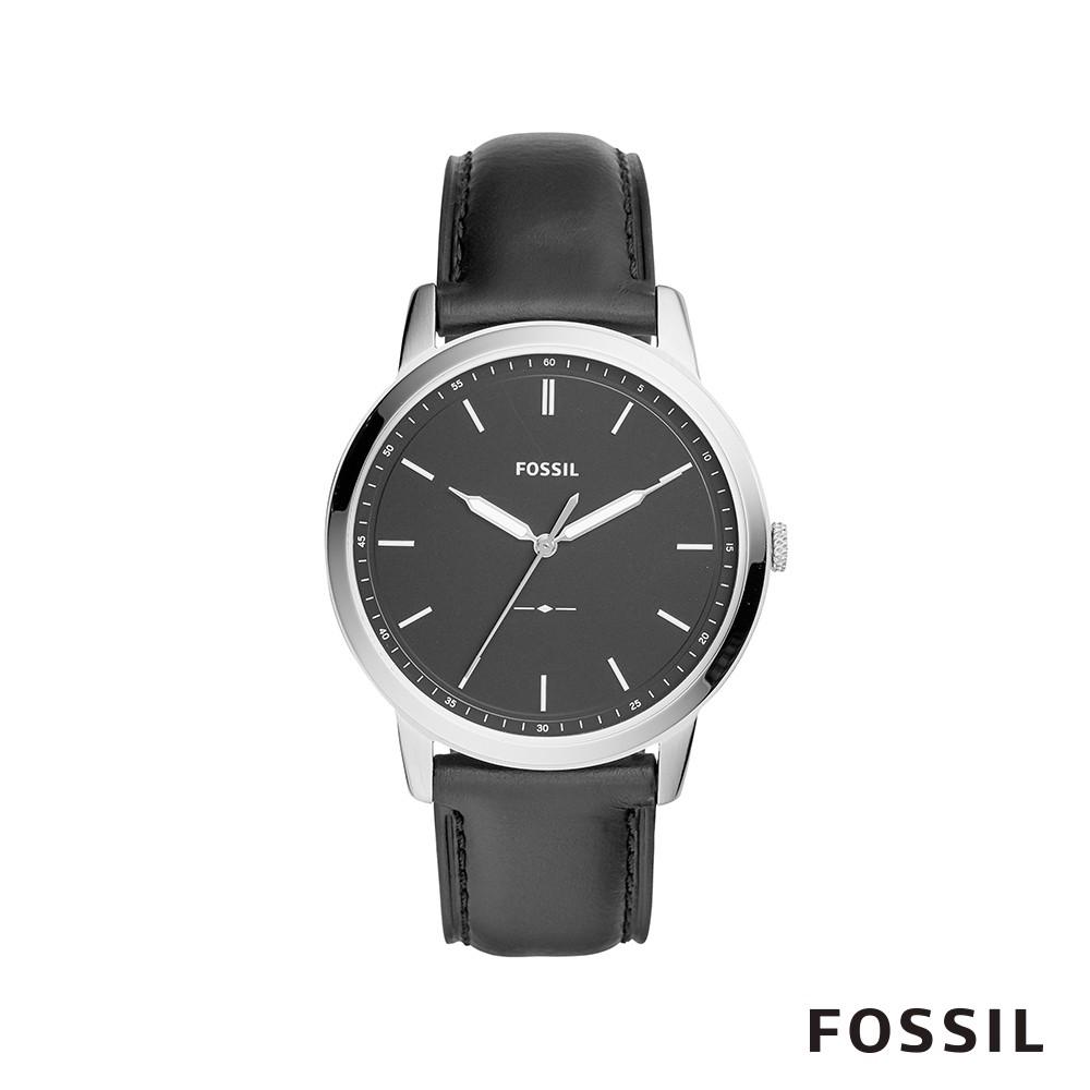 FOSSIL THE MINIMA 時尚經典真皮男錶-低調墨黑 約44mm FS5398