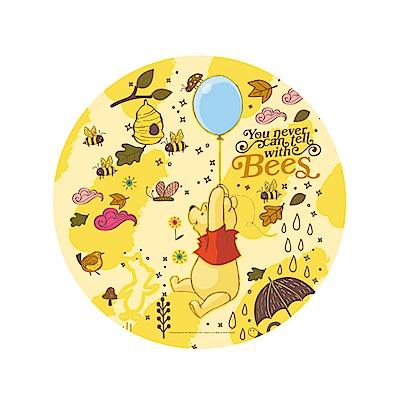 小熊維尼珪藻土吸水杯墊/皂墊-維尼氣球//黃
