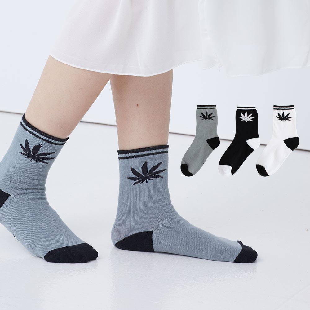 Blossom Gal 大麻葉造型短襪2入(共3色)