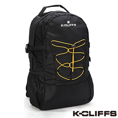 美國K-CLIFFS - 簡約輕巧雙肩後背包-經典黑