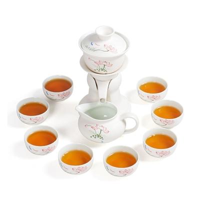 品閒 雪花釉自動茶具禮盒12件組(蓮花款) (8H)
