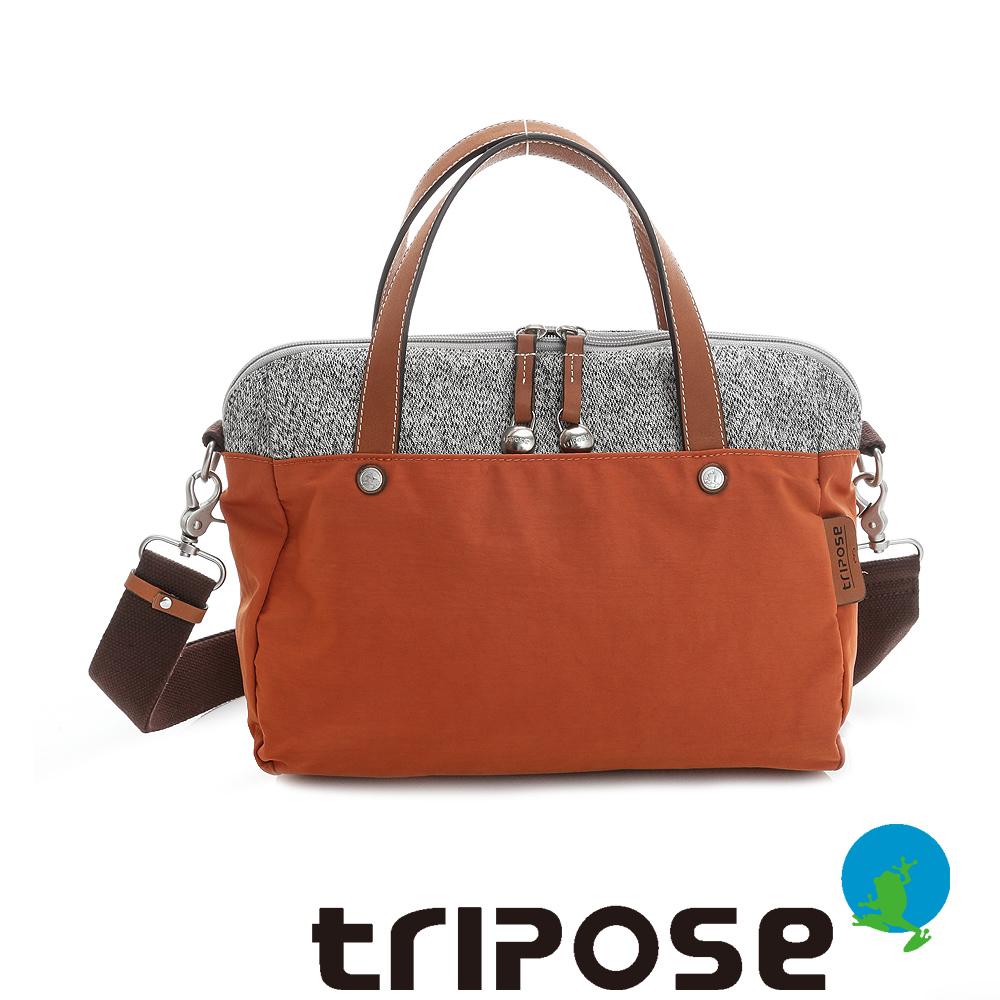 tripose 漫遊系列岩紋玩色兩用手提背包 橘