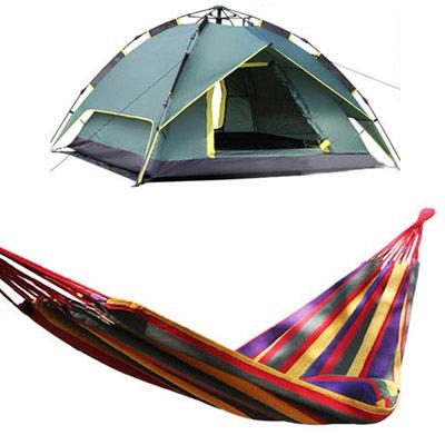 【十周年慶】3用多功能防水抗紫外線雙層帳篷+安全承重250kg加寬加厚雙人吊床