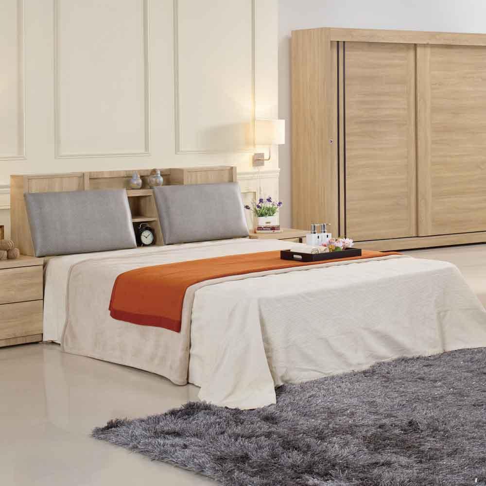 AT HOME - 里約5尺梧桐被櫥雙人床 (不含床墊)