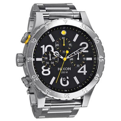 NIXON The 48-20 CHRONO 潮流重擊運動鋼帶腕錶-黑/48mm