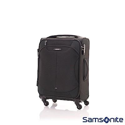 Samsonite新秀麗 20吋Stingray多功能收納擴充布面TSA海關鎖行李箱(黑)