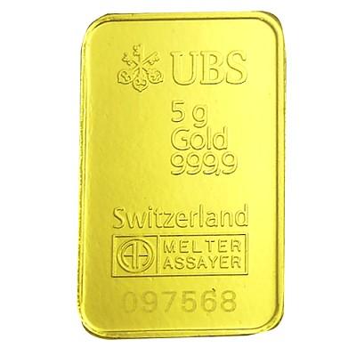 UBS kinebar 黃金條塊 (5公克)