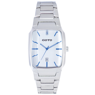 GOTO Laconic時尚腕錶-白x藍/34mm
