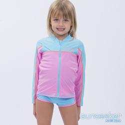 澳洲Sunseeker泳裝抗UV防曬運動外套泳衣-小女童水藍