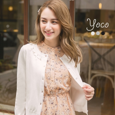 東京著衣-yoco 唯美舒適多色針織小外套-S.M.L(共三色)