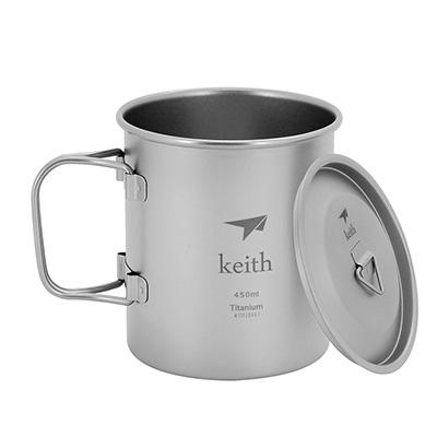 Keith純鈦 KS810摺疊水杯(450ml)