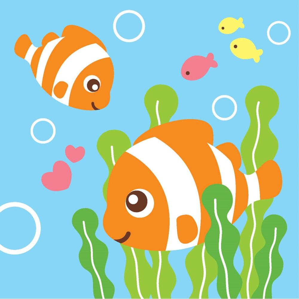 LOVIN 超萌韓版數字油畫 可愛小丑魚(11) 1幅