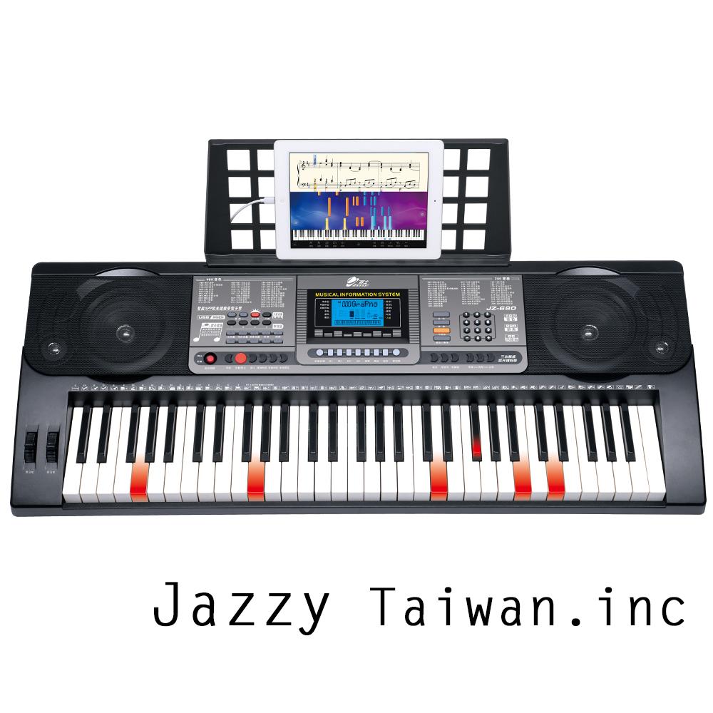 JAZZY JZ-680 魔光電子琴 61鍵 鋼琴力道+力度感應 可麥克風、手機、MIDI (限量贈送琴袋)