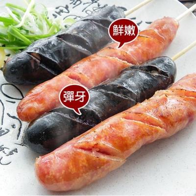 馬姐漁舖 嚴選後腿爆汁飛魚卵/墨魚香腸4包組(300g±10%/包)