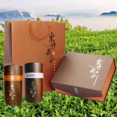 東方藏玉茶葉禮盒(黃金炭焙烏龍+梨山霜雪茶)