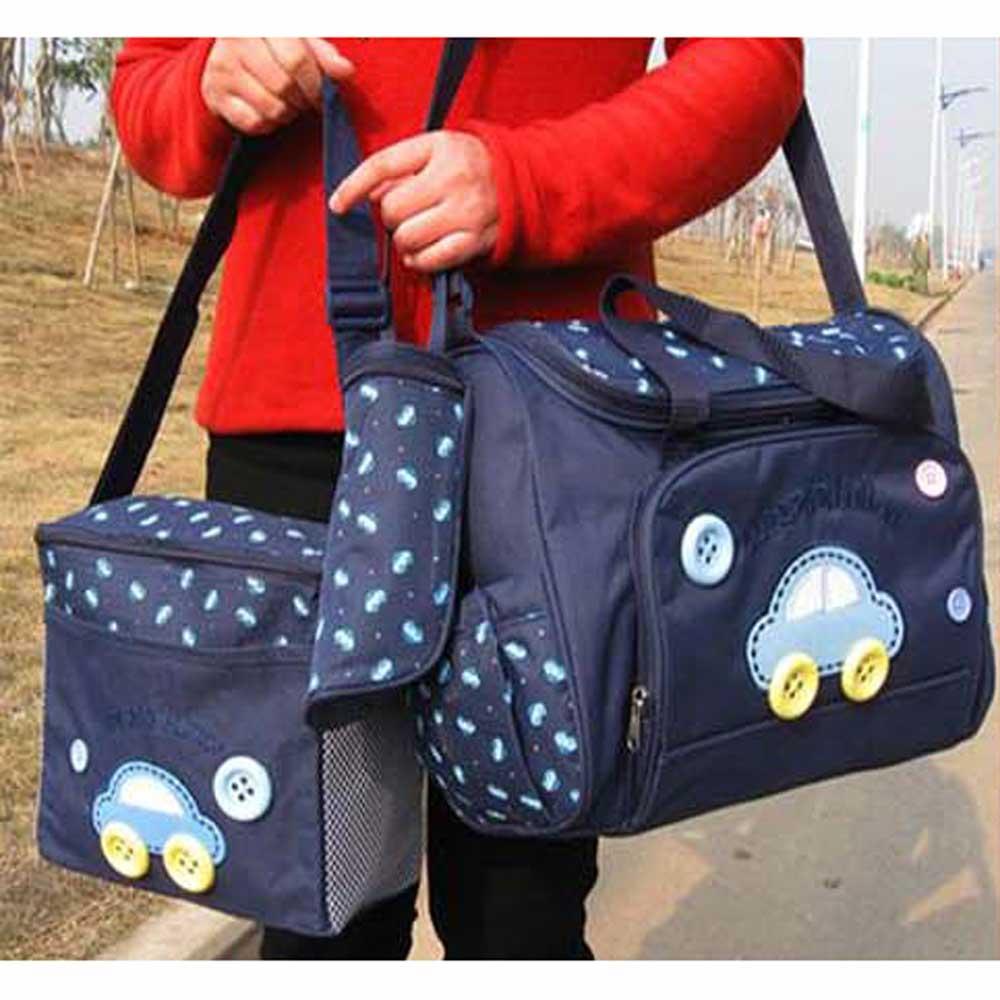 DF 童趣館 - 美麗俏媽咪包五件組(含大包,小包,隔尿墊,奶瓶,尿布錢包)-共3