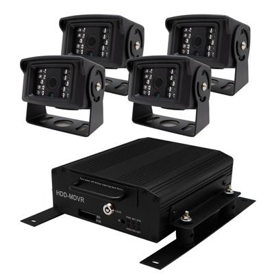 【CHICHIAU】4路720P數位車載防震硬碟式監控錄影組(含720P車用鏡頭x4)