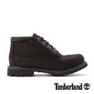 Timberland 女款黑色正絨面厚領防水低筒靴