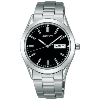 SEIKO精工 SPIRIT系列紳士石英腕錶(SCDC085J1)-黑色/36mm