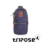 tripose 迷彩系列輕休閒多格層拉鍊單肩包-藍紫