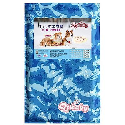 QT BABY寵物涼墊-藍M X1入