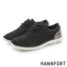 HANNFORT ZERO GRAVITY編織牛津氣墊鞋-女-星空黑