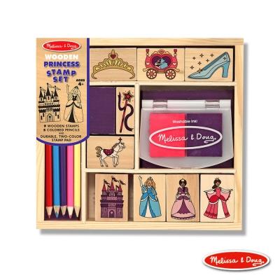 美國瑪莉莎 Melissa & Doug 木製印章組 - 公主城堡組 15pcs