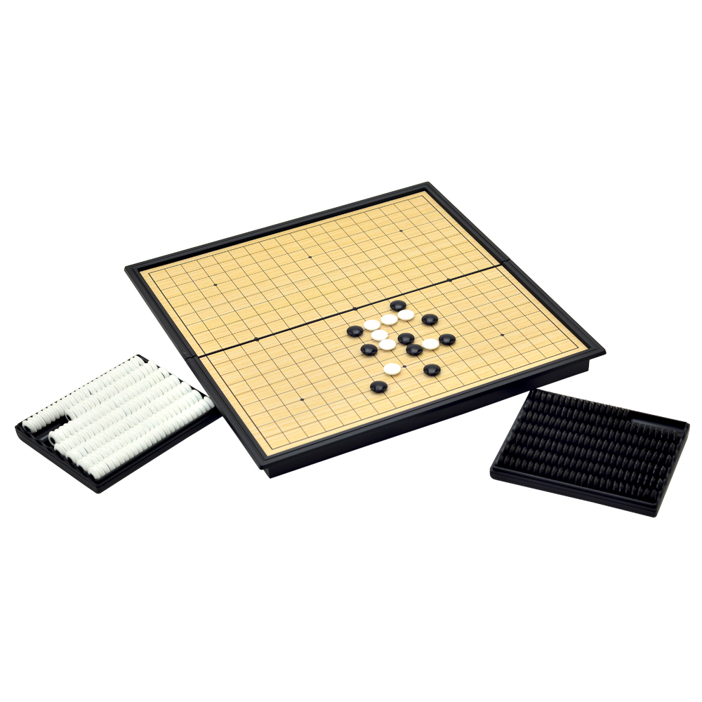 星羅棋布折疊收納式磁性圍棋五子棋棋盤組
