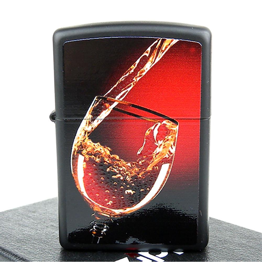 ZIPPO美系-Glass of wine-高級潑墨技術立體微凸打火機