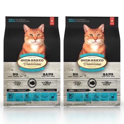 Oven-Baked烘焙客 成貓 魚肉口味 低溫烘焙 非吃不可 10磅 x 2入