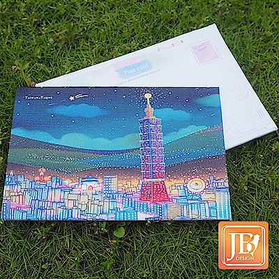 JB DESIGN-文創畫布明信片-160_台北夜晚